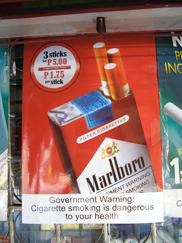 Price of cigarettes Marlboro at England duty free